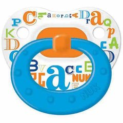 Nuk Pacifiers 0-6 mo Orthodontic Pacifiers Boy Baby Talk Orange Blue BPA Free