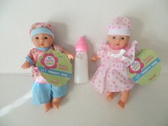 Baby Dolls 2 Mini Toysmith Baby Dolls Caucasian (Outfits will Vary) Plus Disappearing Milk Baby Doll Bottle Ages 3yrs +