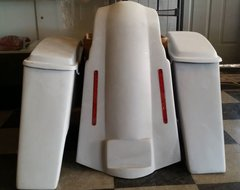 "6"" STRETCHED SADDLEBAGS WITH OVERLAY *NO CUTOUT*"