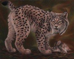 "Iberian lynx Original oil painting on canvas 24 x 30"""