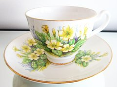 Clare Bone China Cup and Saucer