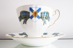 Adderley, Nova Scotia Tartan Cup and Saucer