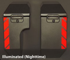 """RK-520R: Red Reflective """"Stripe"""" Kit fits both 8"""" and 10"""" Jesse Odyssey Bags."""