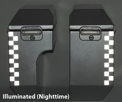 """RK-526S:  Silver Reflective """"Checkers"""" Kit fits both 8"""" and 10"""" Jesse Odyssey Bags."""