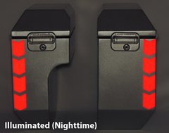 """RK-524R: Red Reflective """"Chevron"""" Kit fits both 8"""" and 10"""" Jesse Odyssey Bags."""