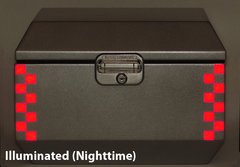 """RK-527R: Red Reflective """"Checkers"""" Kit fits the Jesse Odyssey Top Case."""