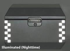 """RK-527S:  Silver Reflective """"Checkers"""" Kit fits the Jesse Odyssey Top Case."""