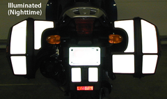 RK-3 BMW Motorcycle Reflective Kit: -- -- Fits the K1200RS and K1200GT (2005 & prior)