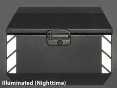 """RK-521S:  Silver Reflective """"Stripe"""" Kit fits the Jesse Odyssey Top Case."""