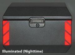 "RK-521R: Red Reflective ""Stripe"" Kit fits the Jesse Odyssey Top Case."