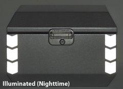 "RK-525S: Silver Reflective ""Chevron"" Kit fits the Jesse Odyssey Top Case."