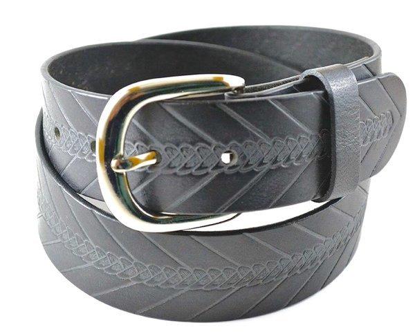 bi 406 black 100 hide leather belt black iron
