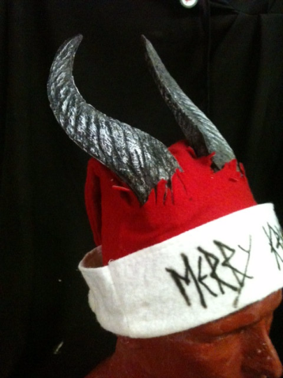Krampus Santa Hat- Straight Horned