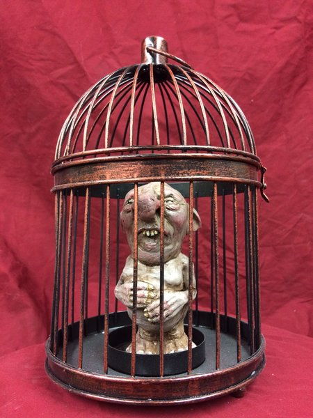 Captured Gnome- cage included