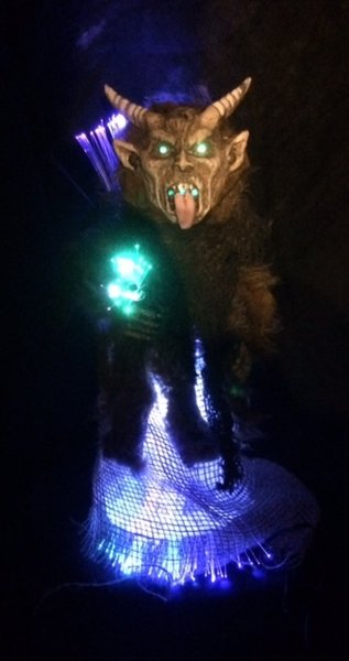 Krampus Fiber optic Tree Topper