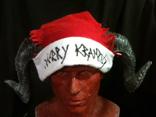 Krampus santa hat - ram horned