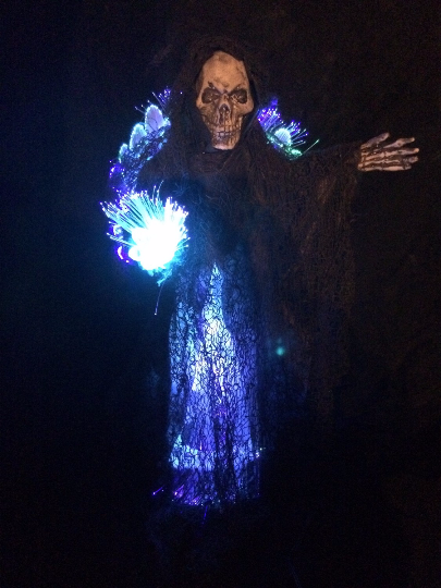 Grim Reaper Fiber Optic Tree Topper