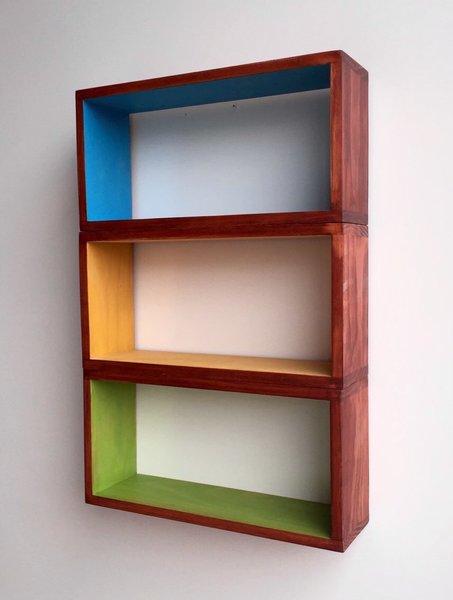 Mid Century Modern Minimalist Floating Shelves Handmade Custom