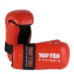 TOP TEN Point Fighter Gloves Red