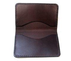 Credit / Business card wallet - dark brown