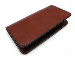 Checkbook cover - medium brown