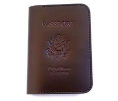 passport wallet - dark brown
