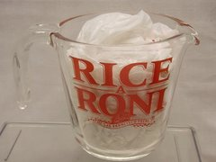 Rice A Roni PYREX Glass 2 cup measuring cup