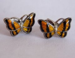 Volmer Bahner, signed VB, Sterling Enamel Butterfly Post Earrings - SOLD