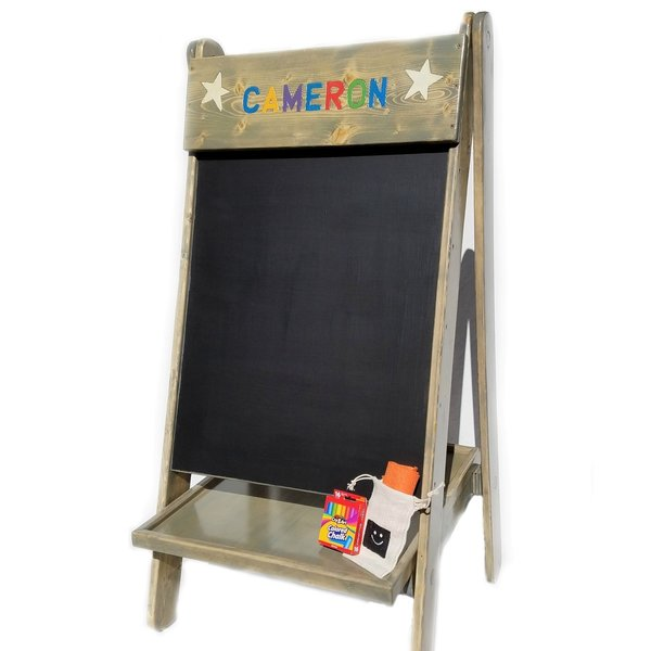 Famous Happy Kids Large Chalkboard Easel | Kids Chairs, Outdoor Benches  HA65