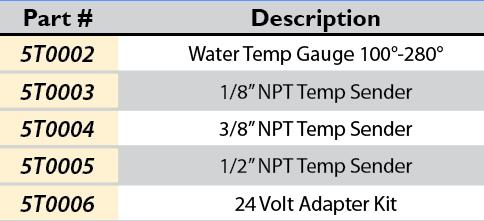 Faria® Water/Temp Sender