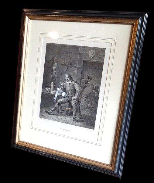 """Framed Print """"Un Fumeur"""""""