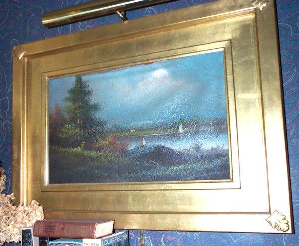 Framed Chinese Scene Painting