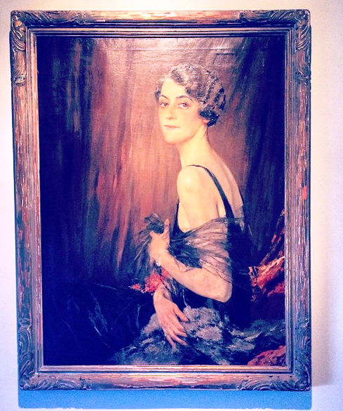Framed Portrait of Theodora Faber Baker Signed by Edward Cucuel