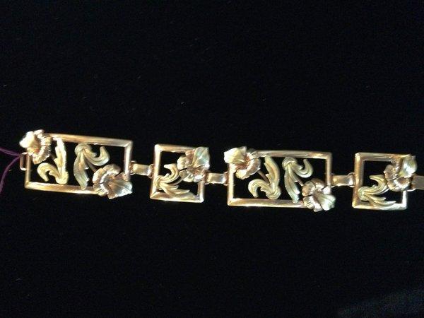 Gold Filled Art Nouveau Bracelet