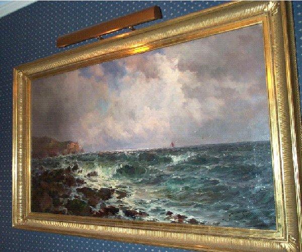 Framed Seascape by British Artist John Falconar Slater