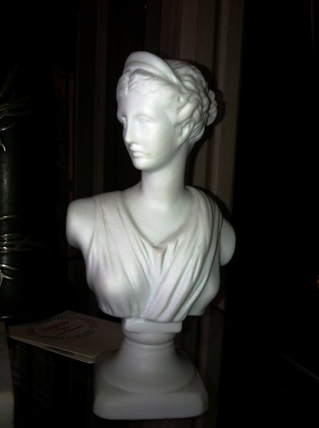Diana, Goddess of the Hunt, the Moon and Childbirth, Small Bust in Profile