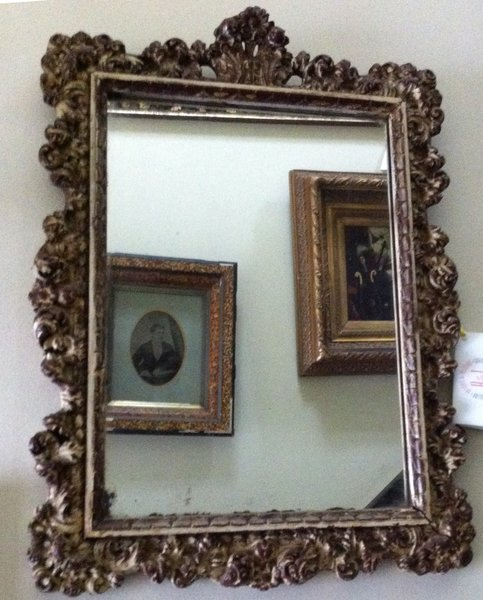Italian 18th Century Antique Carved Mirror