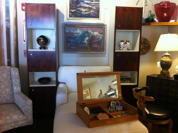 Mid-Century / Danish / Scandinavian Rosewood and Formica Shelving Units / Cabinets