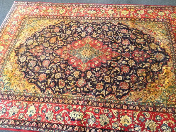 Iranian Persian Style Hand Knotted Extra Large Rug