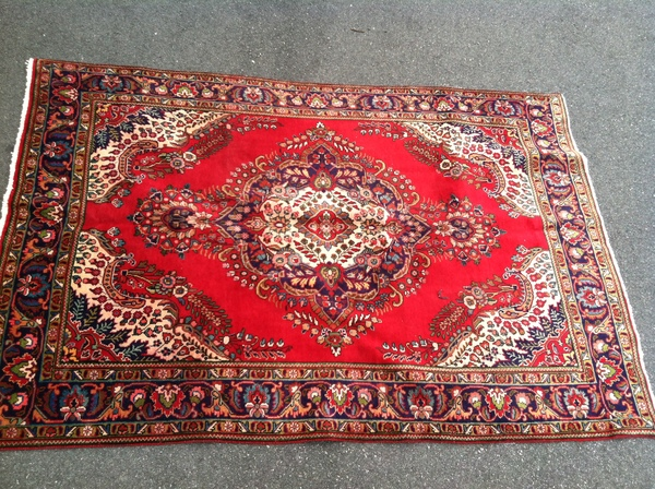 Iranian Persian Style Hand Knotted Wool Rug