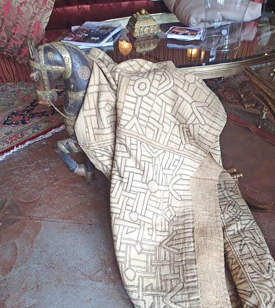 African 1920's Antique Long Piece Kuba Skirt