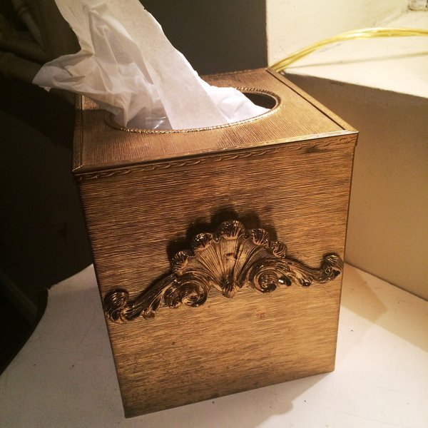 Hollywood Regency Tissue Box