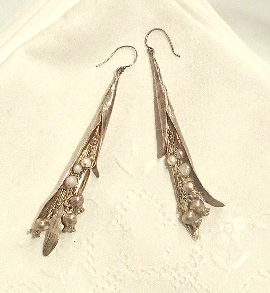 Lily of the Valley Earrings by Amie Plant