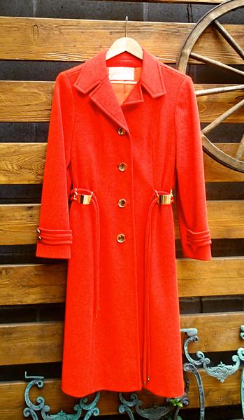 Miss Baker Red Wool Long Coat