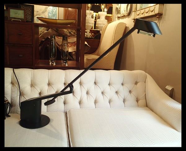 1980's Style Sculptural Halogen Desk Lamp