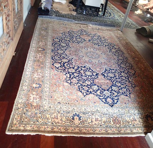 Iranian Tabriz Persian Style Rug, Antique