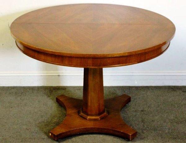 Vintage Split Pedestal Table with Three Leaves