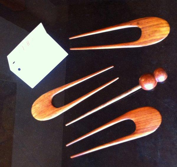 Koa Wood Bun / Hair Sticks