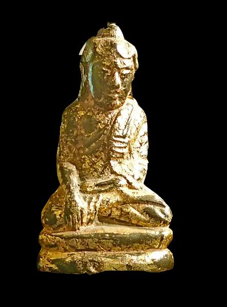 18th Century Antique Gilt Buddha, hand carved 18K gilding