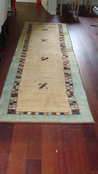 1920's Antique Hand Knotted Gabbeh Runner